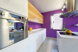 modern laundry room with indoor window shutter