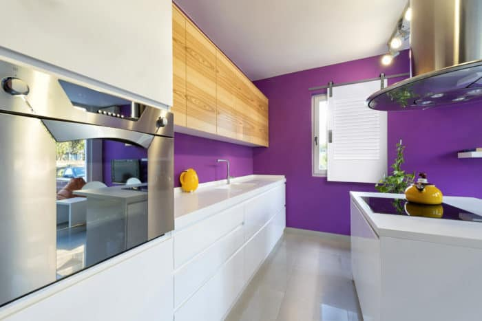 modern laundry room with indoor window shutter