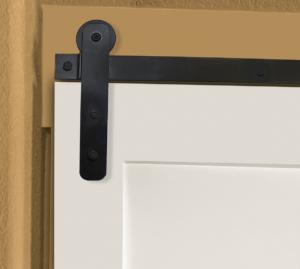 white sliding door with light duty barn door hardware