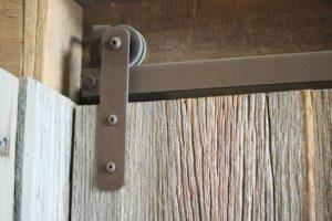 brown shutter-size barn door hardware