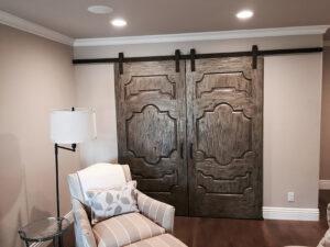 large biparting doors with Goldberg Brothers Standard Series barn door hardware