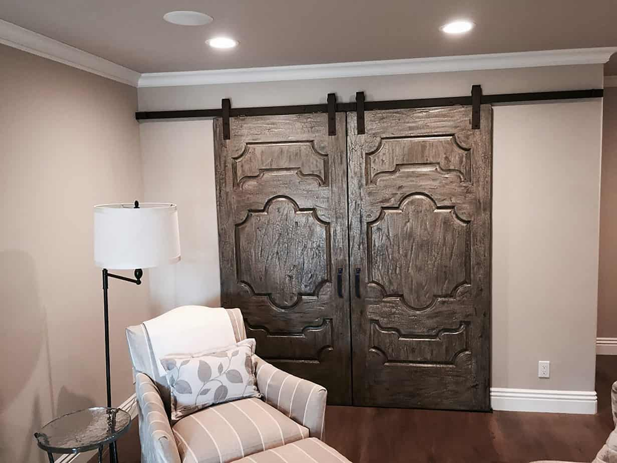 large biparting doors with Goldberg Brothers Standard Series barn door hardware