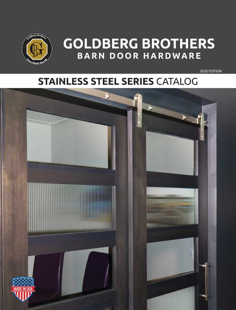 Goldberg Brothers Stainless Steel Series barn door hardware catalog (online edition)